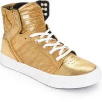 Supra Women's Skytop Gold Metallic Shoes