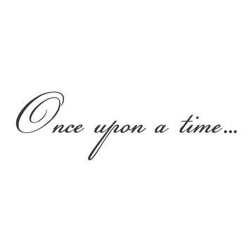"wall quotes wall decals - ""Once Upon a Time..."""
