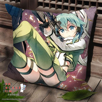 New Asada Shino Sinon - Sword Art Online Anime Dakimakura Square Pillow Cover SPC93
