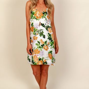 Together Floral-ever Dress Ivory/Green