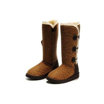 Ugg Boots Outlet Black Friday Bailey Button Triplet 1873 Leopard For Women 92 24