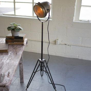 Brass Finish Studio Floor Lamp