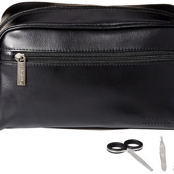 Kenneth Cole REACTION Men's Travel Toiletry Bag Shaving Kit with 3 Piece Manicure Set