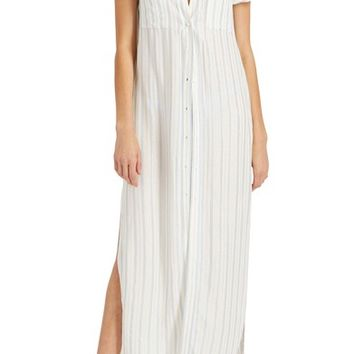 Onia Kim Stripe Button Down Cover-Up Maxi Dress | Nordstrom