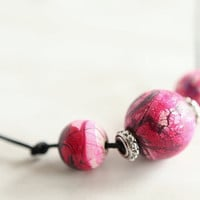 Colored Wooden beads Necklace