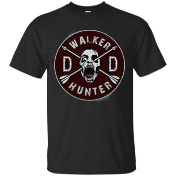 Walking Dead Daryl Dixon Wings and Walker Patch Two Sides G200 Gildan Ultra Cotton T-Shirt