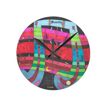 Round Wall Clock - Musicality