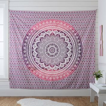 Printed Tapestry, Pink/Purple