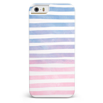 Pink to Blue WaterColor Ombre Stripes iPhone 5/5s or SE INK-Fuzed Case