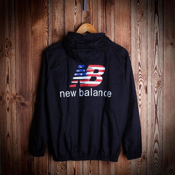 Fashion Unisex NEW BALANCE Hooded Jacket Lightweight Christmas Gift