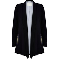 River Island Womens Black smart waterfall jacket