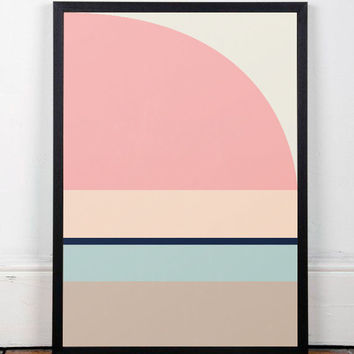 Geometric print, Abstract art, Scandinavian art, Scandinavian poster, Nordic design, Pink, Modern art, Modern poster, Wall print, Home decor