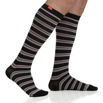 Thin Striped Compression Socks for Men