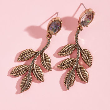 Easy Come, Leafy Glow Earrings