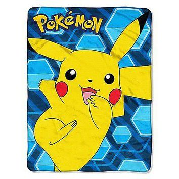 Pokemon Glitch Pikachu 46x60 Micro Raschel Plush Throw