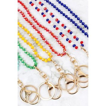 GLASS BEADS LANYARD NECKLACE