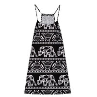 Sexy Style Women Work Sexy Abobe Knee Dress Spaghetti Strap Dresses Elephant Sleeveless