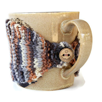 Coffee Mug Cozy - Mug Cozy - Knitted Mug Cozy - Mug Sleeve - Tea Mug Cozy - Mug Jacket - Hot Drink Cozy - Mocha Cozy - Knitted Drink Sleeve