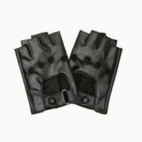 Rizzo Faux Leather Biker Gloves