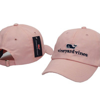Pink VINEYARD VINES Embroidered Baseball Cap Hat