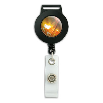 Solar Flare Sun Space Retractable Badge Card ID Holder