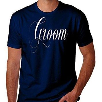 LMFXT3 Groom Wedding Bachelor Party Funny Novelty Parody T-Shirt Top Tee 100% Cotton Humor Men Crewneck T Shirts Loose Plus Size