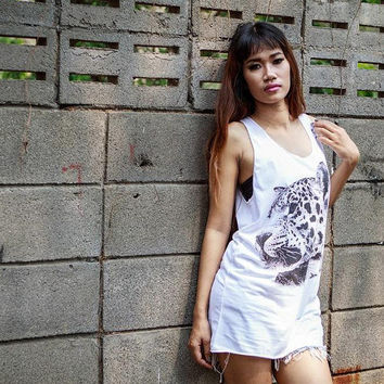 Leopard  Tiger Tank Top  Women tshirt tank top Tunic by Tshirt99