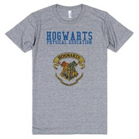 Hogwarts Physical Education PE Color-Unisex Athletic Grey T-Shirt