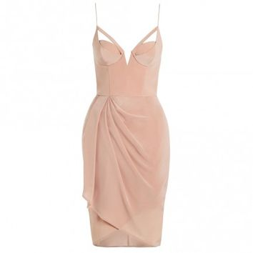 Silk Underwire Drape Dress - Clothing - Ready To Wear