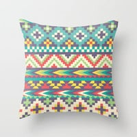 Ultimate Navaho Throw Pillow by Rachel Caldwell | Society6