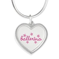 ballerina Silver Heart Necklace