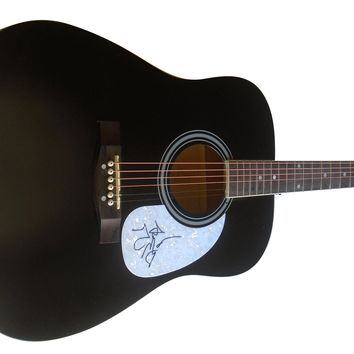Trent Harmon Autographed Full Size Country Music Acoustic Guitar, Proof Photo
