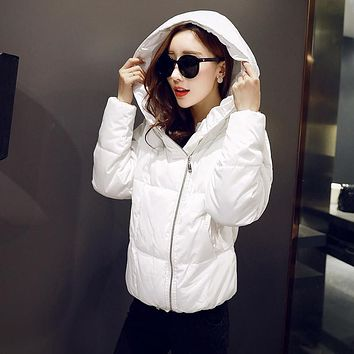 women winter  jacket coat 2016 cotton Hooded Thick warm loose women basic coats bomber jacket female autumn