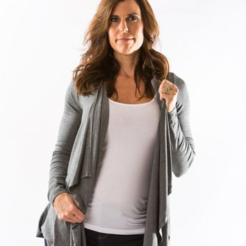 Pearl Cardigan (Anthracite) by Amour Vert