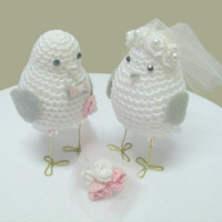 wedding cake topper love birds