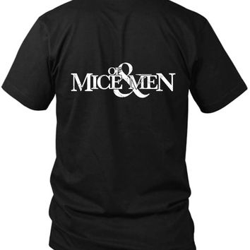 Of Mice And Men Logo 2 Sided Black Mens T Shirt