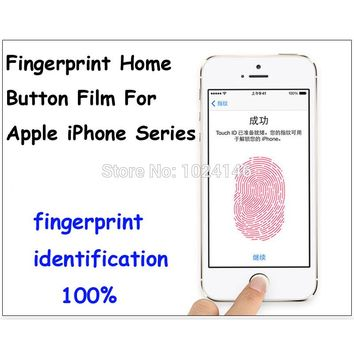 For Apple iPhone 4S 5S 6 Plus 7 Plus 6S 7 Transparent Identify Fingerprint Touch ID Film Home Key Button Protector Sticker Clear