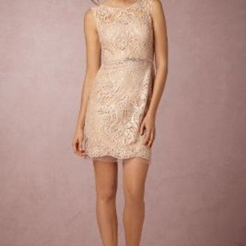Wedding Guest Dress by Anthropologie x BHLDN in Blush Size: