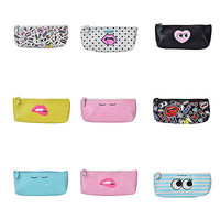 PU leather pencil case Kawaii pen bag stationery pouch school office supply HU
