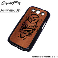 Owl Wood Case For Samsung Galaxy S3 Case