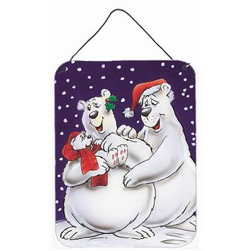 Holiday Polar Bears Wall or Door Hanging Prints AAH7269DS1216