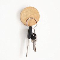 Key Holder (Keys) Wall Mounted Magnetic Wooden Key Holder No Key Hooks Decorative and Sticking Wooden Key Holding Organization