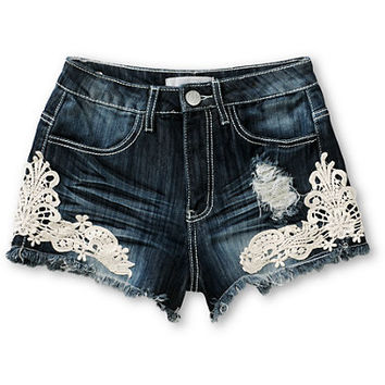Almost Famous Jess Crochet High Waisted Shorts