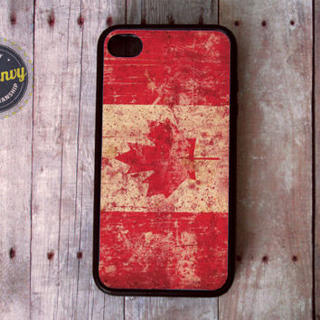 Grunge Canadian Flag iPhone 4 / 4s case
