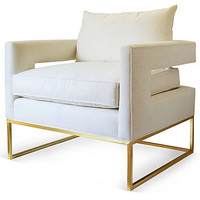 OKL Exclusive Bevin Chair, Ivory