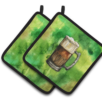 Irish Beer Mug Pair of Pot Holders BB5761PTHD