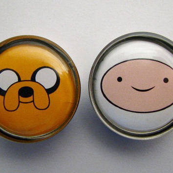 Adventure Time Jake Finn Face (3) Plugs 2g, 0g, 00g, 7/16, 1/2, 9/16, 5/8, 3/4, 7/8, 1 inch