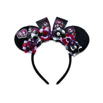 Simply Meant to Be Mouse Ears Headband, Flower Mouse Ears, Jack Skellington Mouse Ears, Sally Mouse Ears, Nightmare Before Christmas