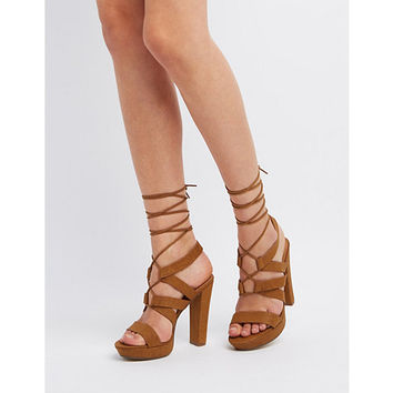 Ankle Wrap Chunky Heel Sandals