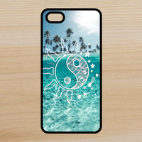 Yin Yang Sun Stars V4 Space Moon Beach Art Phone Case iPhone 4 / 4s / 5 / 5s / 5c /6 / 6s /6+ Apple Samsung Galaxy S3 / S4 / S5 / S6